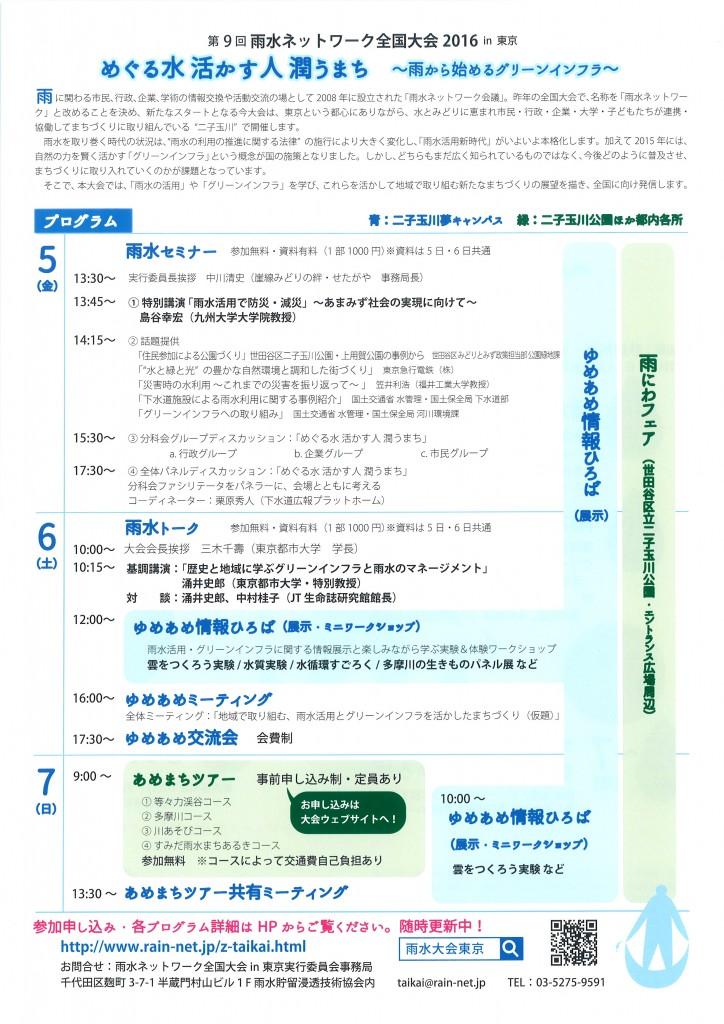雨水ネットワーク全国大会2016in東京裏